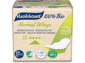 vuokkoset 100% bio 12 normal wings thin
