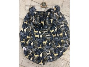 Zateplená nosící kapsa  VEKA, černá s jeleny