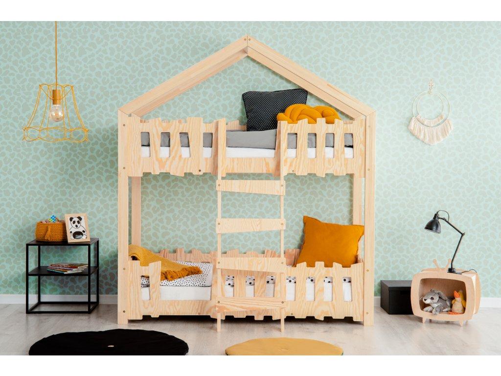 Detská domčeková poschodová posteľ Zippo P