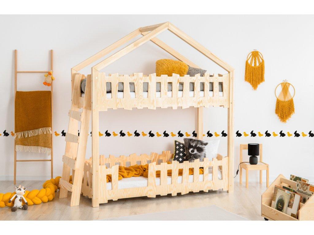 Detská domčeková poschodová posteľ Zippo B