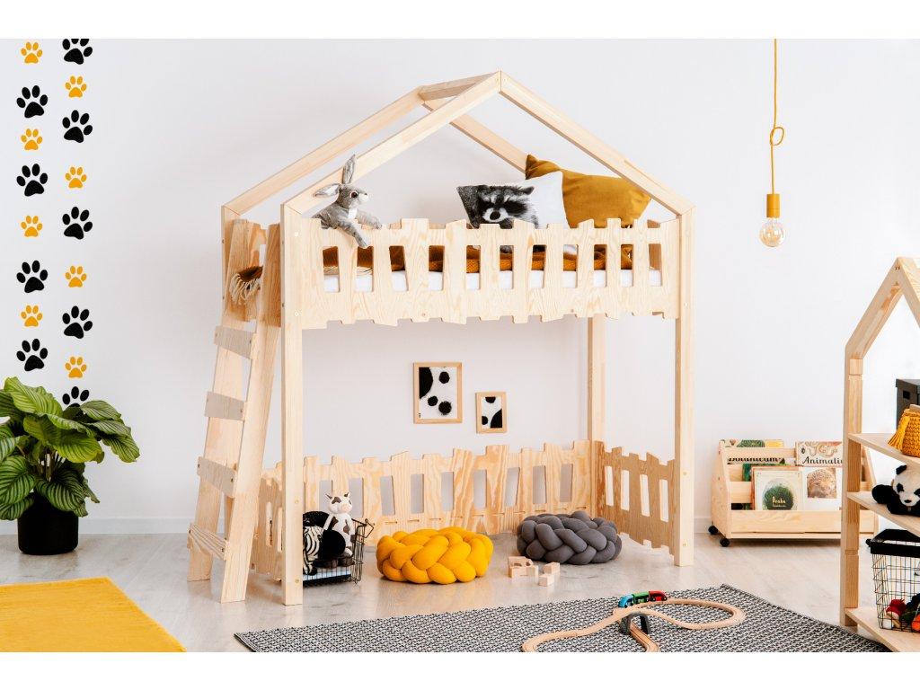 Detská domčeková poschodová posteľ Zippo BA