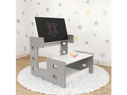 Stôl so stoličkou a tabuľou na kreslenie Wind