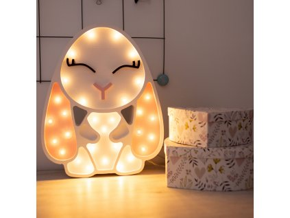 detska drevená lampicka králik 1