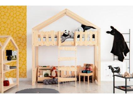 Detská domčeková poschodová posteľ Zippo PA