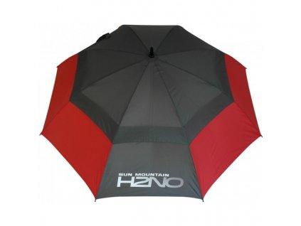Sun Mountain Golfový deštník UV H2NO STEEL/RED 30SPF
