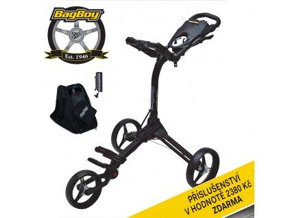 Ruční tříkolový golfový vozík Bag Boy COMPACT C 3 Black/Black