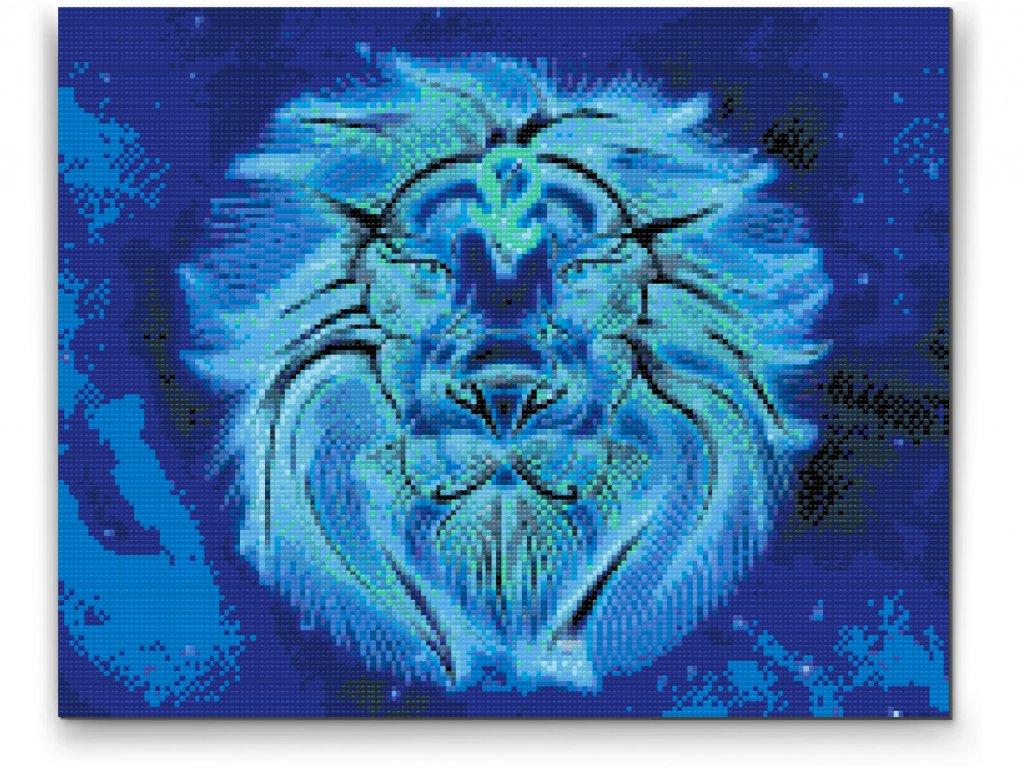Diamantové malování - Lev/Leo (Rámování Bez rámu (pouze plátno), Velikost 40x50cm)