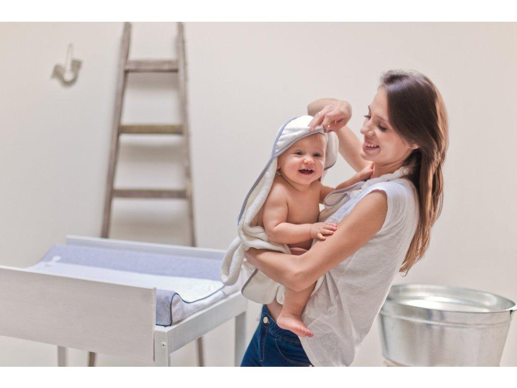 bambusovy babyrucnik pro miminka sedy lem