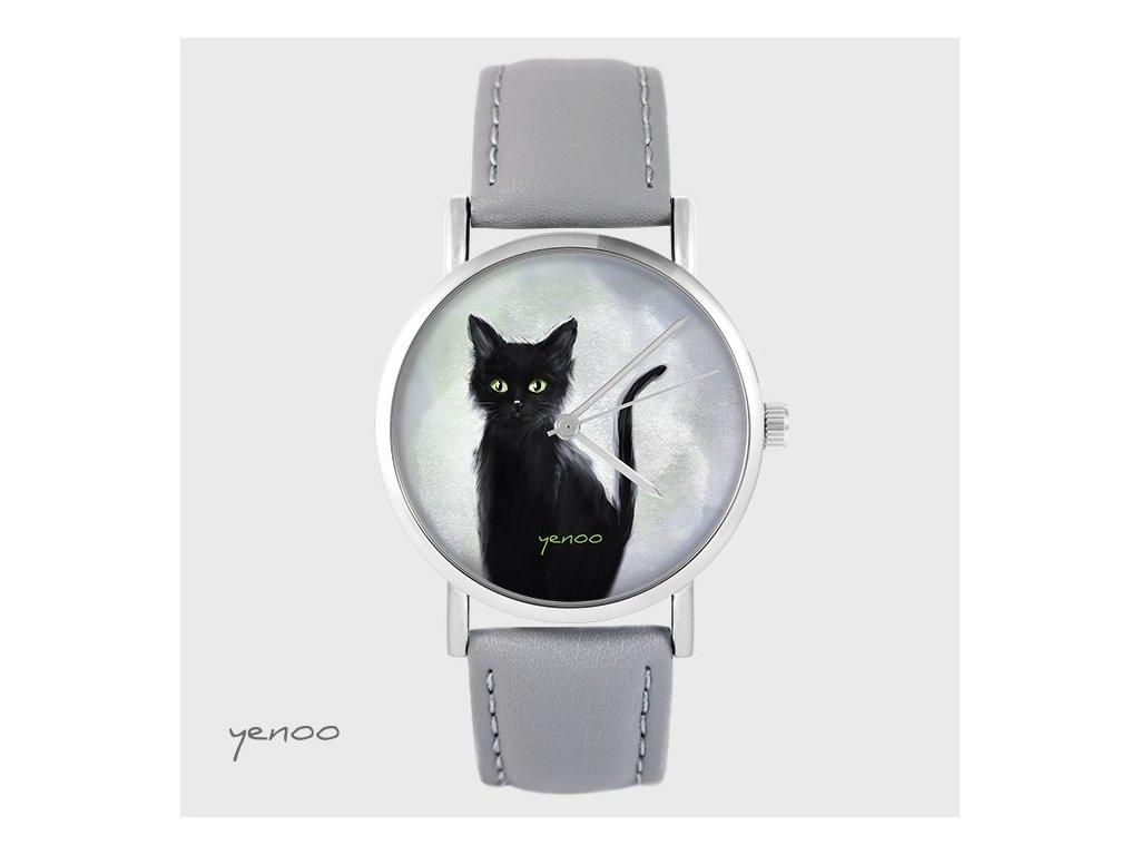 Hodinky - design Kočka