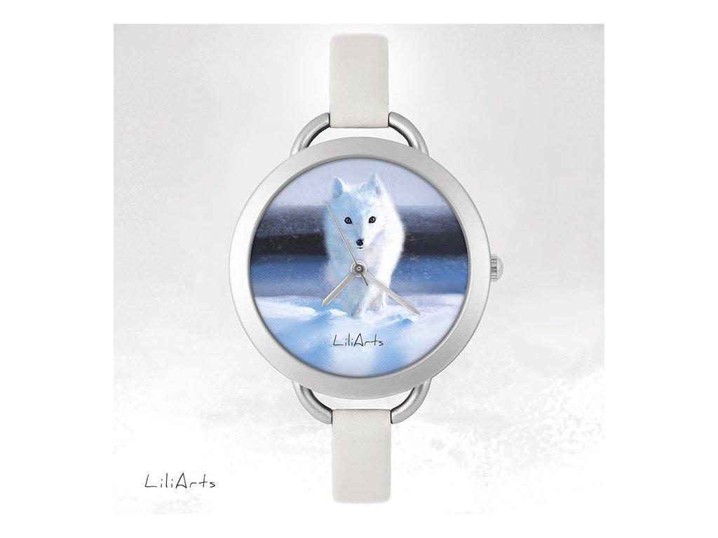 Hodinky - design Polární Liška