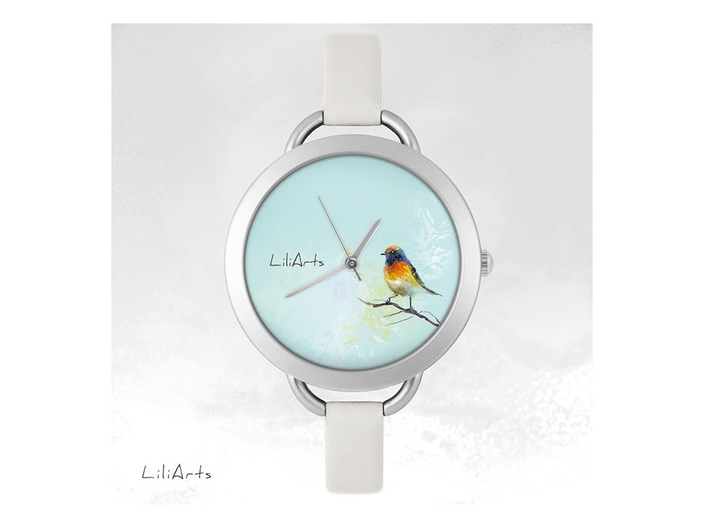Hodinky - design Barevný Ptáček