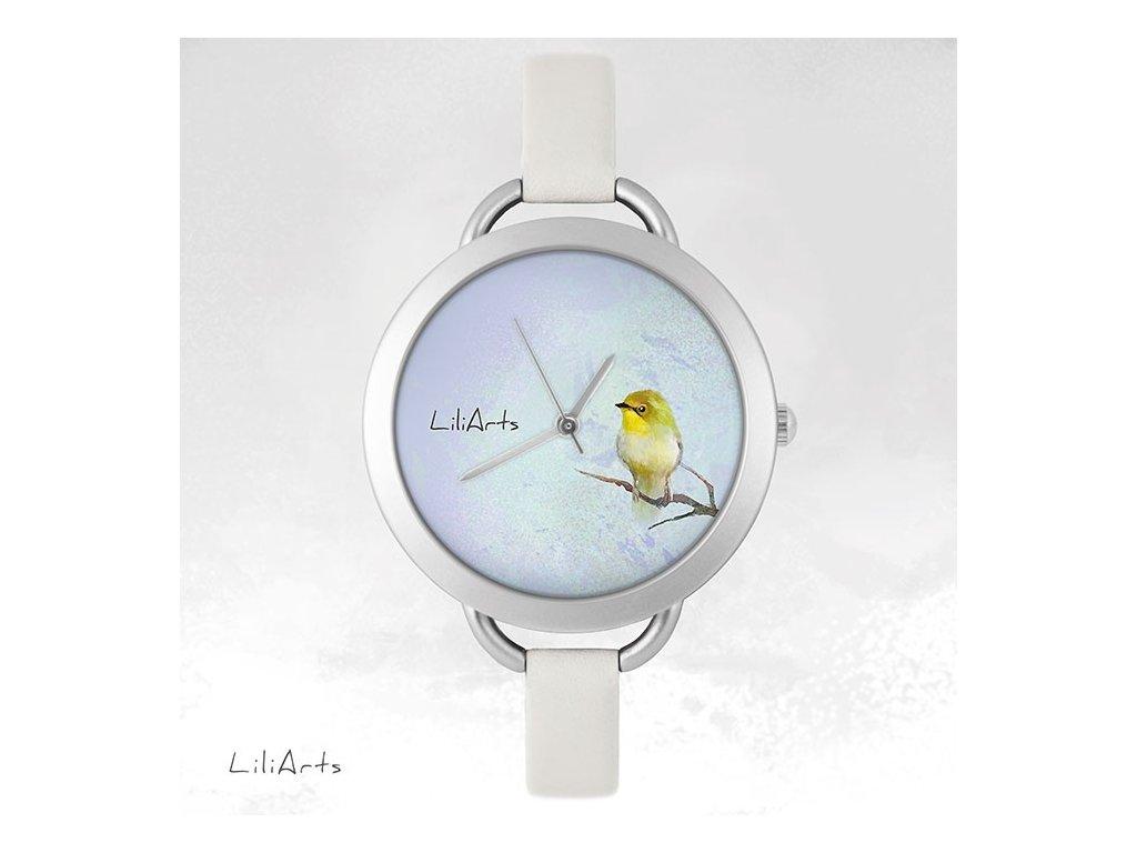 Hodinky - design Žlutý Ptáček