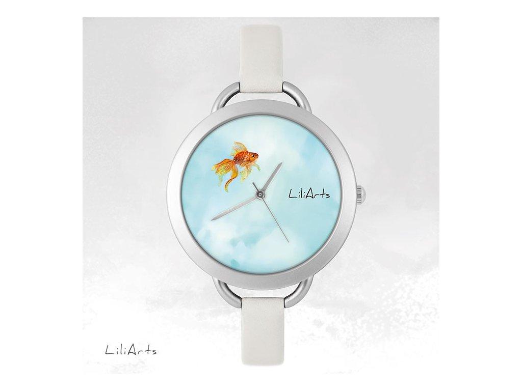 Hodinky - design Zlatá rybka