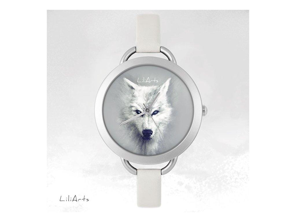 Hodinky - design Bílý Vlk