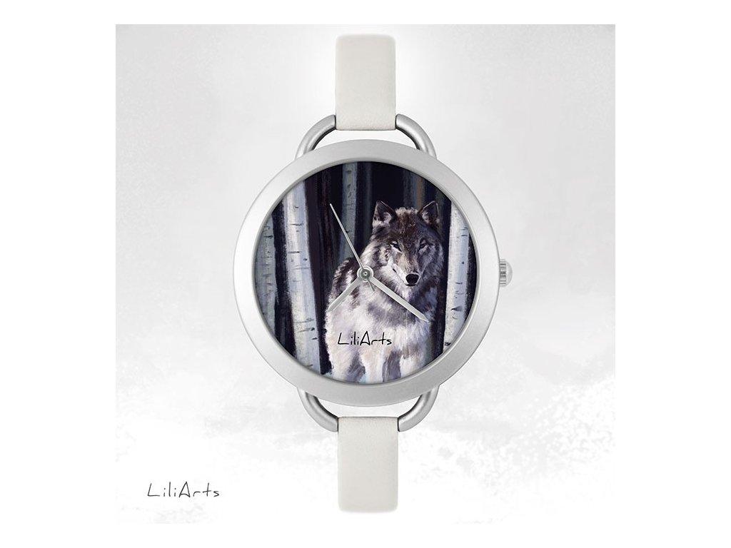 Hodinky - design Šedý Vlk