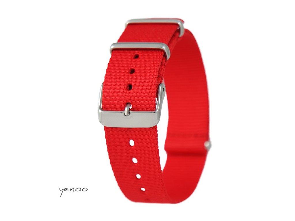 Nato náramek na hodinky červený