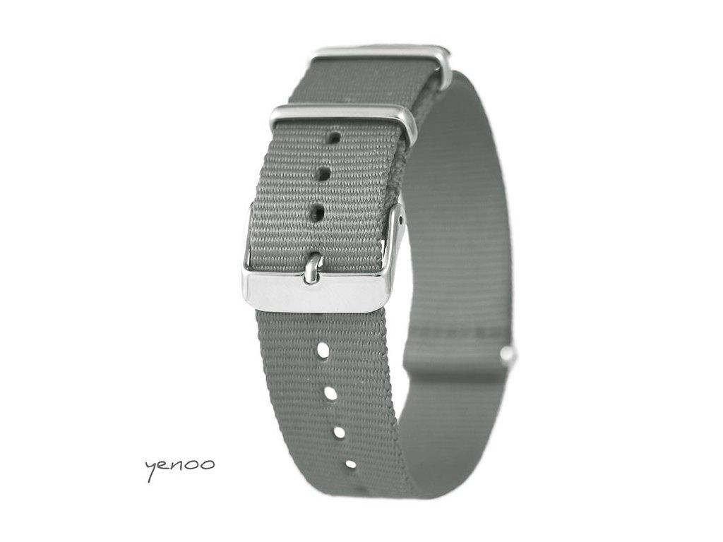 NATO náramek na hodinky šedý
