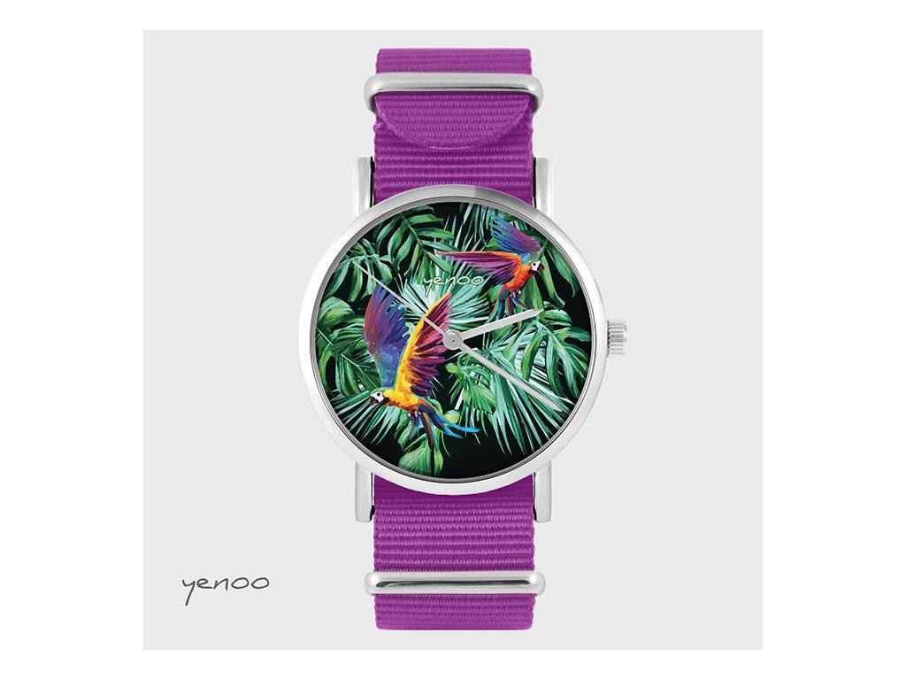 Papoušek Tropical - NATO Amarant - Hodinky s grafickým designem