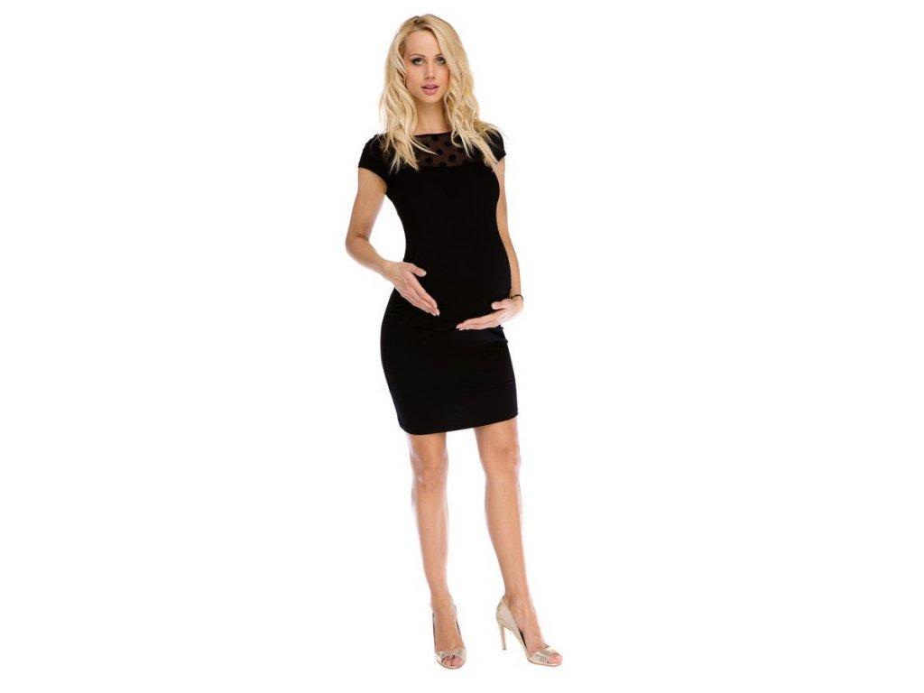 Těhotenské šaty Coco černé 2