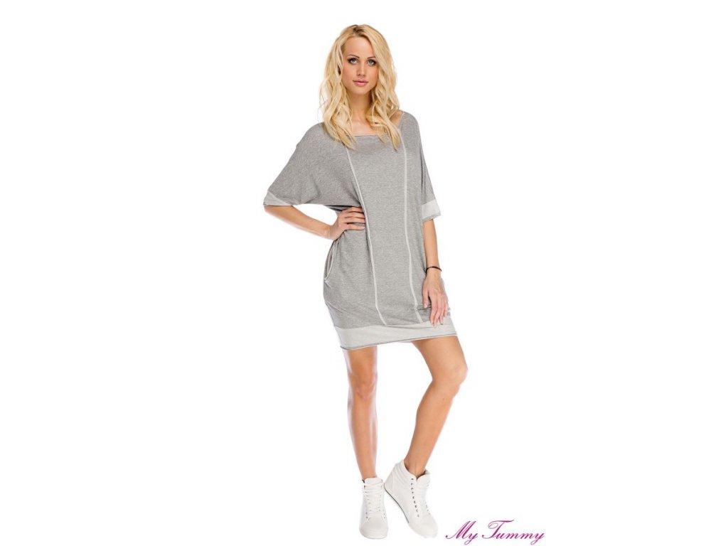 P318 Multifunkční šaty Polly pro těhotenství i kojení 2