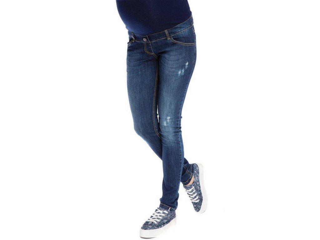 P332 Těhotenské džíny kalhoty Demi tmavě modré
