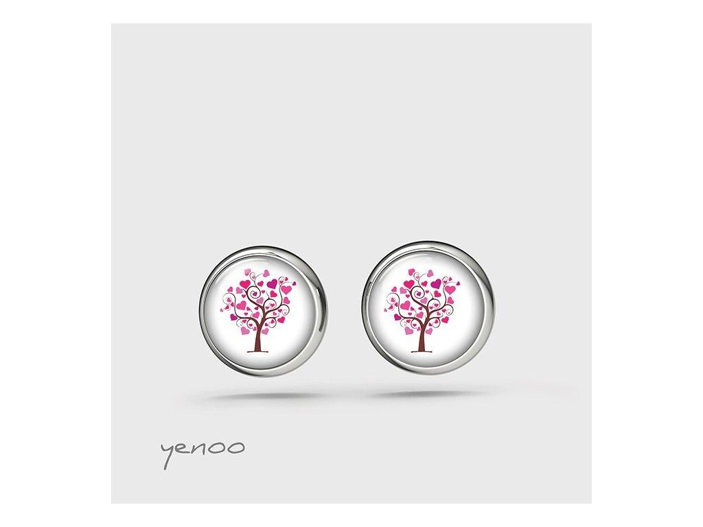 Milující strom - náušnice mini