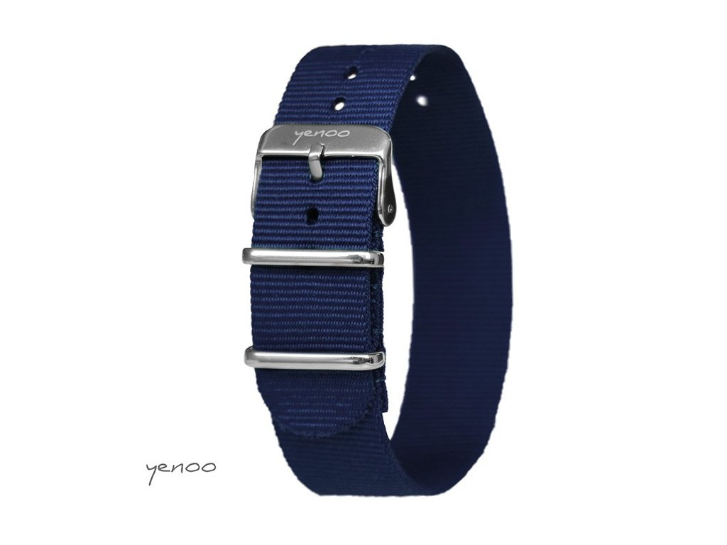 NATO náramek na hodinky tmavě modrý