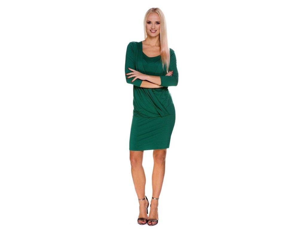 P403 Multifunkčné Linda zelené šaty pre tehotné a dojčiace matky pre materstvo My Tummy 1