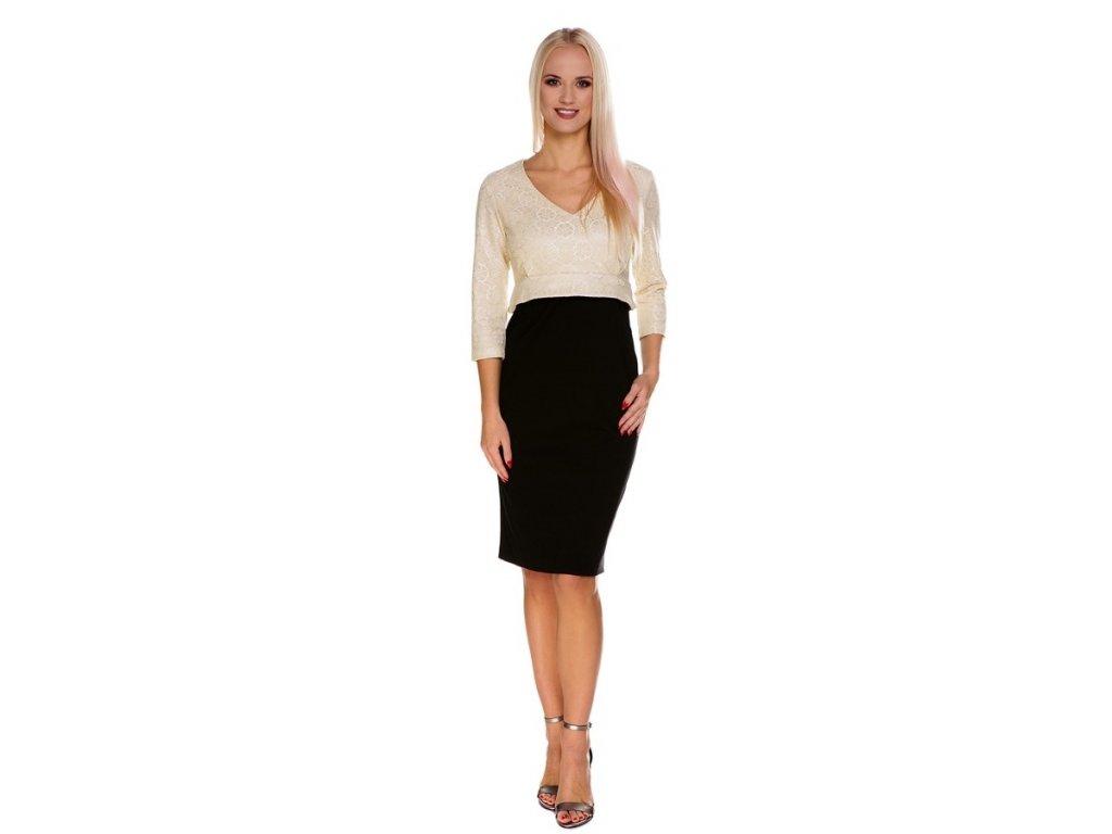 P415 Multifunkční šaty Miranda pro těhotenství i kojení s elegancí od My Tummy 1