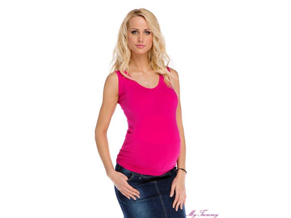 Těhotenský top tílko růžové