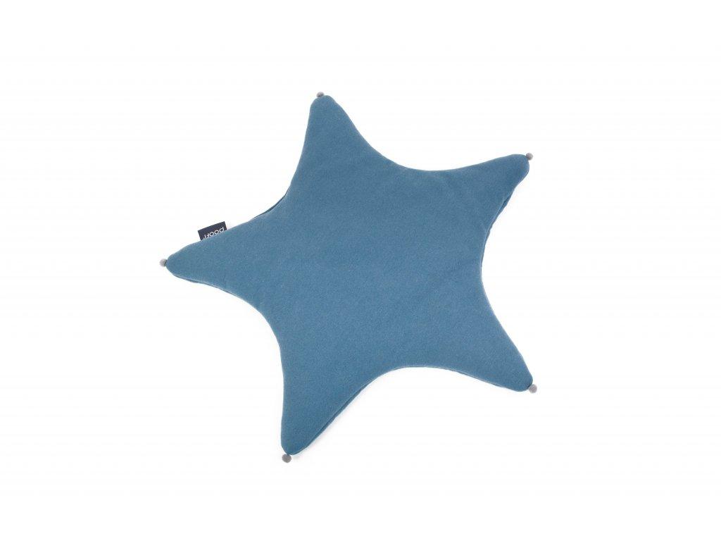 PF016 Polstar hvezdicka denim organicky a barva Poofi