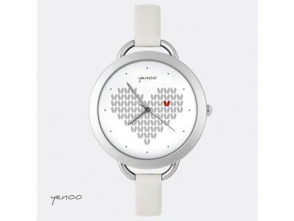 Hodinky - design  Pletené srdce
