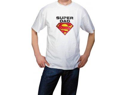 Super dad tričko s potiskem bílé krátký rukáv www.mytummy.cz