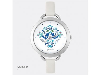 Lidoví ptáčci modří - hodinky s grafickým designem