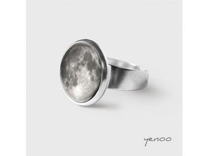 Měsíc - Prstýnek s grafickým designem