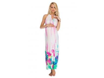 P319 Multifunkční šaty Eva pro těhotenství i kojení 2