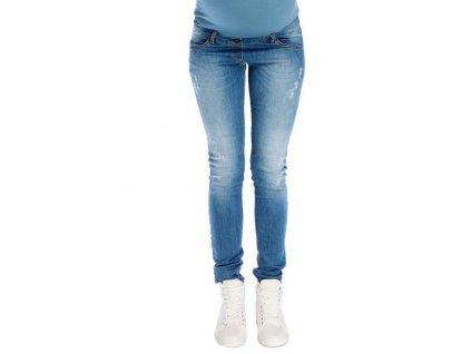 P331 Těhotenské džíny kalhoty Demi světle modré