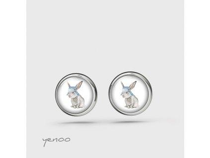 Zajíc s ušatkou - Náušnice mini