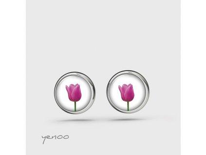 Tulipán - náušnice mini