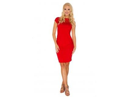 P354 Těhotenské šaty Coco červené krajka 2