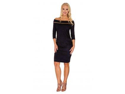 P366 Těhotenské šaty Taylor uhelná antracitová barva 2