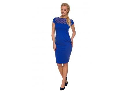 P381 Tehotenské šaty Coco kobaltové 2