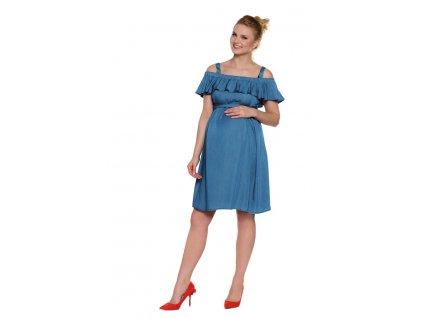 Maternity nursing dress Nancy denim 1