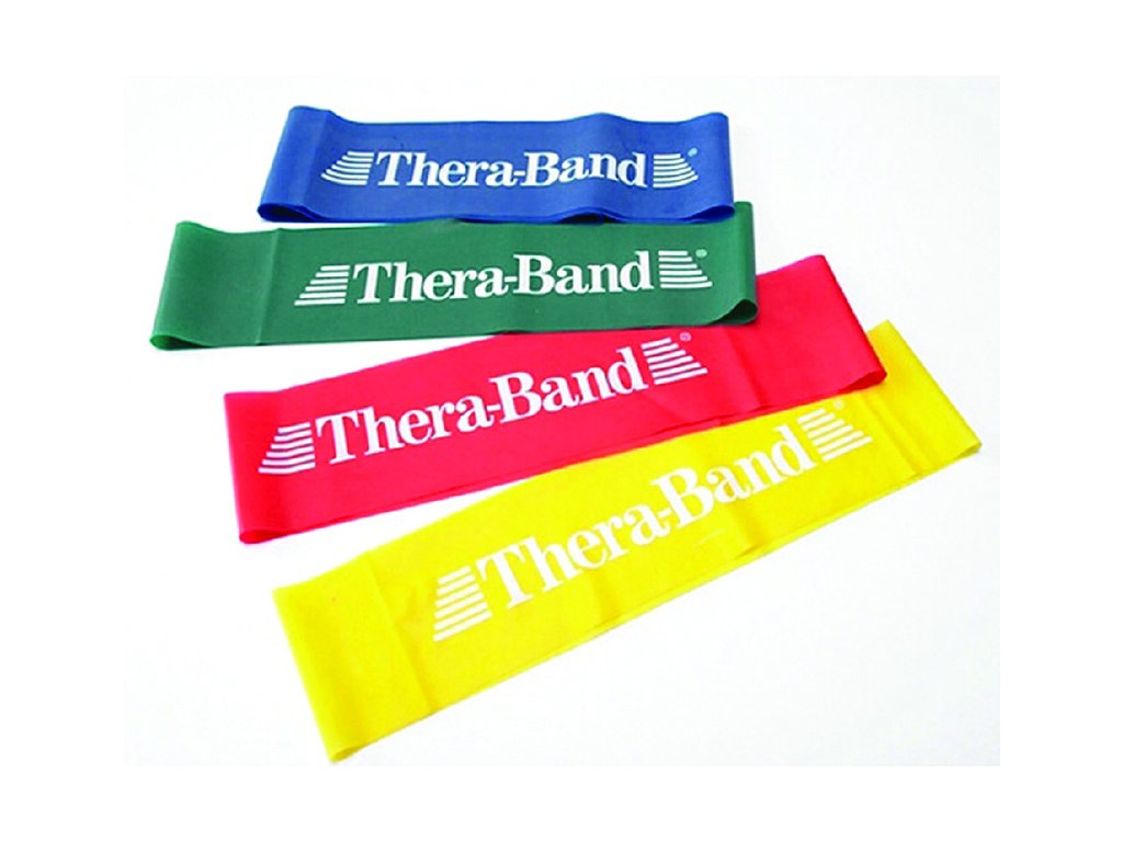 THERA-BAND Loop 7,6 x 30,5 cm, žlutá, slabá