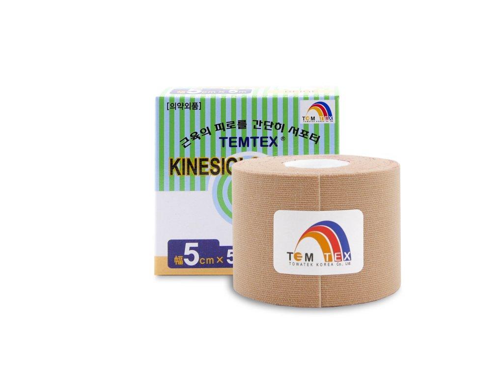 TEMTEX kinesio tape Classic, béžová tejpovací páska 5cm x 5m