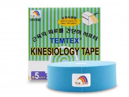 TEMTEX kinesio tape Classic XL modrá tejpovací páska 5cm x 32m EKONOMICKÉ BALENÍ