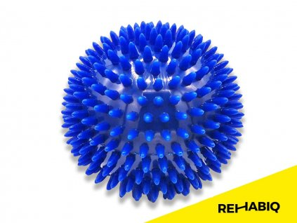 Rehabiq Masážní míček ježek, modrý 10 cm