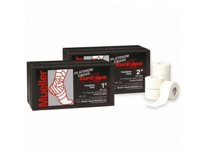 Mueller EuroTape™ Platinum, fixační tejpovací páska 2,5cm, celé balení, 48 ks