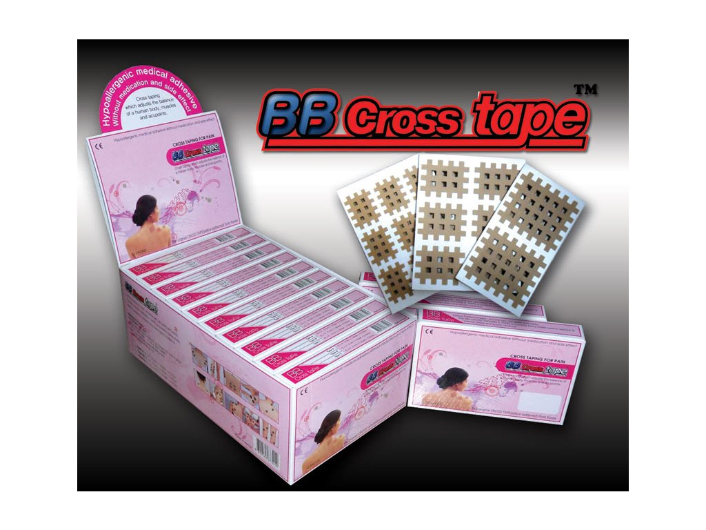 BB Cross Tape, křížové tejpy červené
