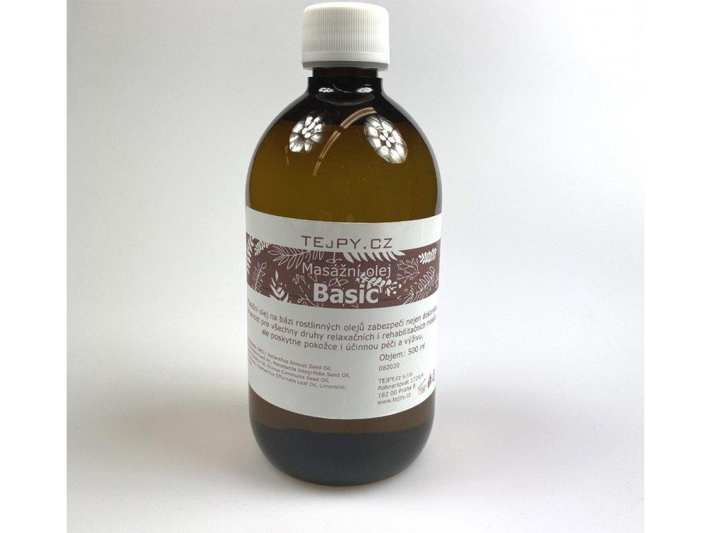 neutrální masážní olej